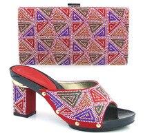 Neue Ankunft italienische Schuhe mit passender Tasche Qualität für Party Hochzeit Italien Schuhe und Tasche für Hochzeit. ZA1-8