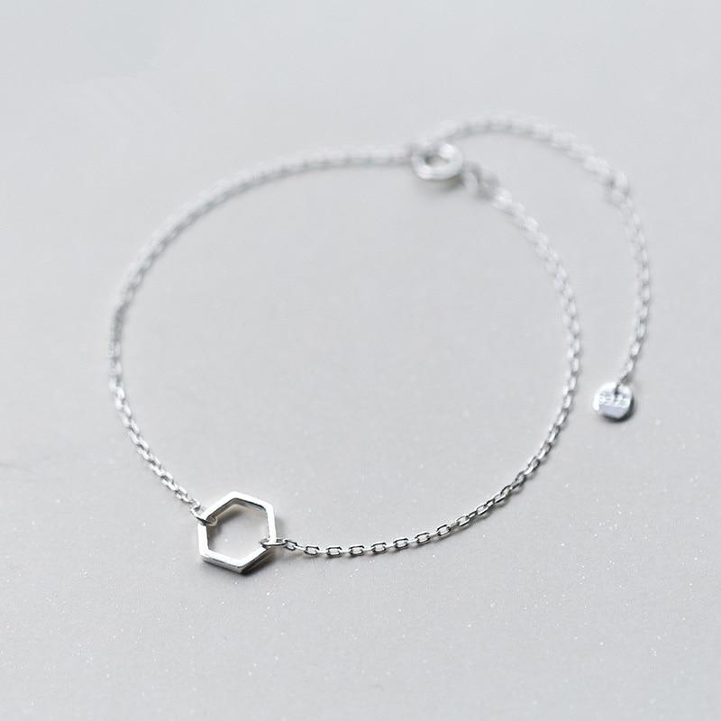 925 Silver Bracelet Female Cute Style Simple Hollow