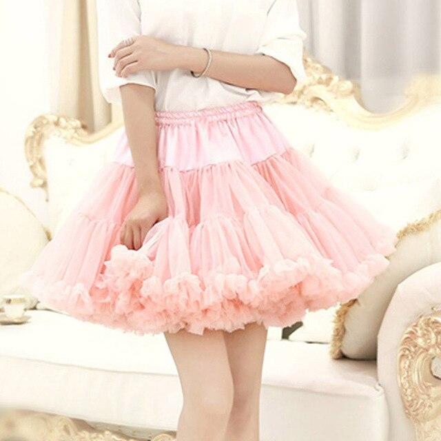 E JUE SHUNG Ball Gown Underskirt Swing Short Dress Petticoat Lolita Cosplay Petticoat Ballet Tutu Skirt Rockabilly Crinoline 4
