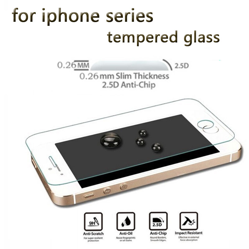 ABAG 0.26MM For IPhone 5 5S 5C SE Ultra-thin Screen Protectors 9H 2.5D For Apple Se Phone Tempered Glass Film