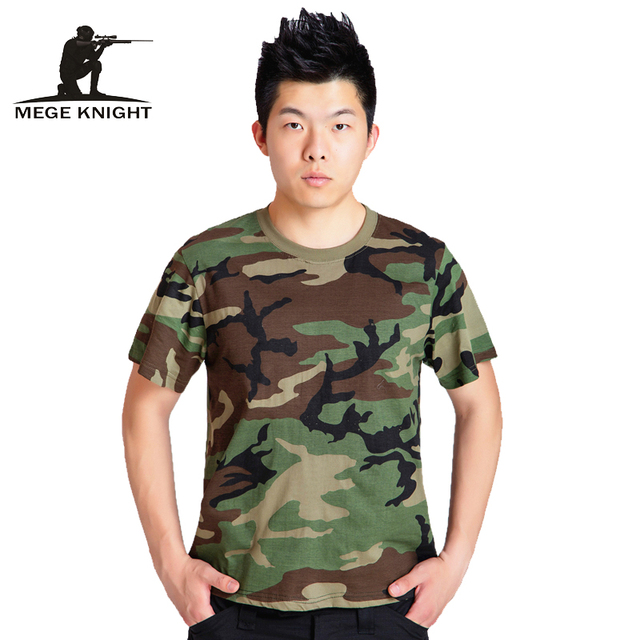 2cbdffd1 Summer Camouflage T-shirt Men Breathable Army Tactical Combat T Shirt  Military Dry Camo Camp Tees