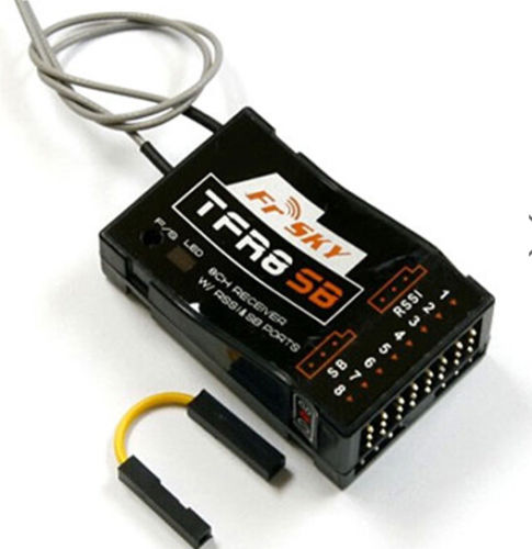 Frsky TFR8SB 8/16CH Compatible For FASST Receiver With RSSI&SB Port frsky tfr6 tfr6 a 7ch 2 4g receiver compatible with futaba fasst frsky tfr6 t8fg 10cg 14sg tf module
