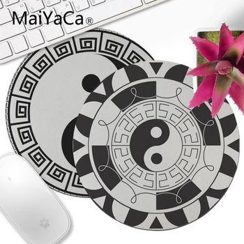 MaiYaCa Tai Ji Yin Yang Mandala Circle Spirituality Laptop Computer Mousepad Decorate Your Desk Non-Skid Rubber mouse pad anime circle