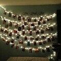 10 LED Abrazadera Hollow Fotos Decoración de navidad de La Lámpara Luz de la Secuencia Del Partido de Navidad Al Aire Libre cordón de iluminación e61201