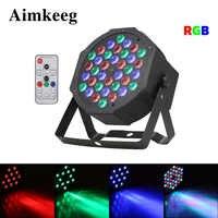 36 LED RGB 3IN1 luces de escenario Mini luz plana Par DMX 512 Control de sonido proyector DJ efecto de proyector para KTV boda de la familia