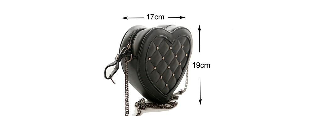 Fashion Small Cute Women Messenger Bag Plaid Loved Hearts Eesigual Bag Bolsas Feminias Rivet Chain Shoulder Bag Women Handbag 1