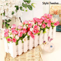 2PCS Lot Decorative Silk Flowers Artificial Plants Home Decoration And Everything For Wedding Basket Decoration Free