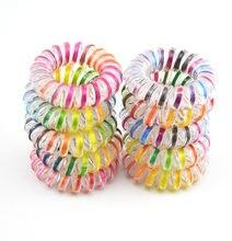 10 шт женские резиновые держатели для волос 35 см