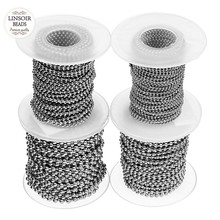 10Yards/Roll Dia 1.5mm 2mm 2.4mm 3mm Beaded Ball Chain Bulk Stainless Steel Jewelry Chains for Necklaces Jewelry Making Supplies 5m lot 1 5mm metal ball bead chains 7colors ketting kettingen bulk bulk iron chains for diy jewelry accessories