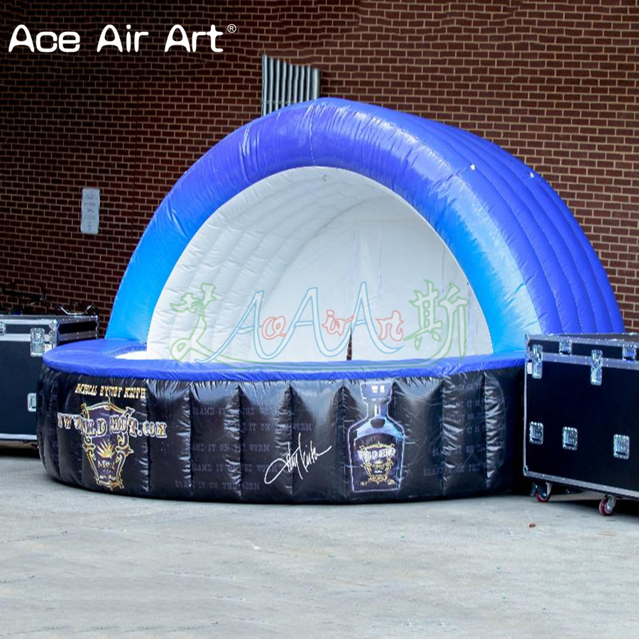 Giant inflatable kiosk bar,concession booth,pop-up bar counter with curtain for Holiday promotion