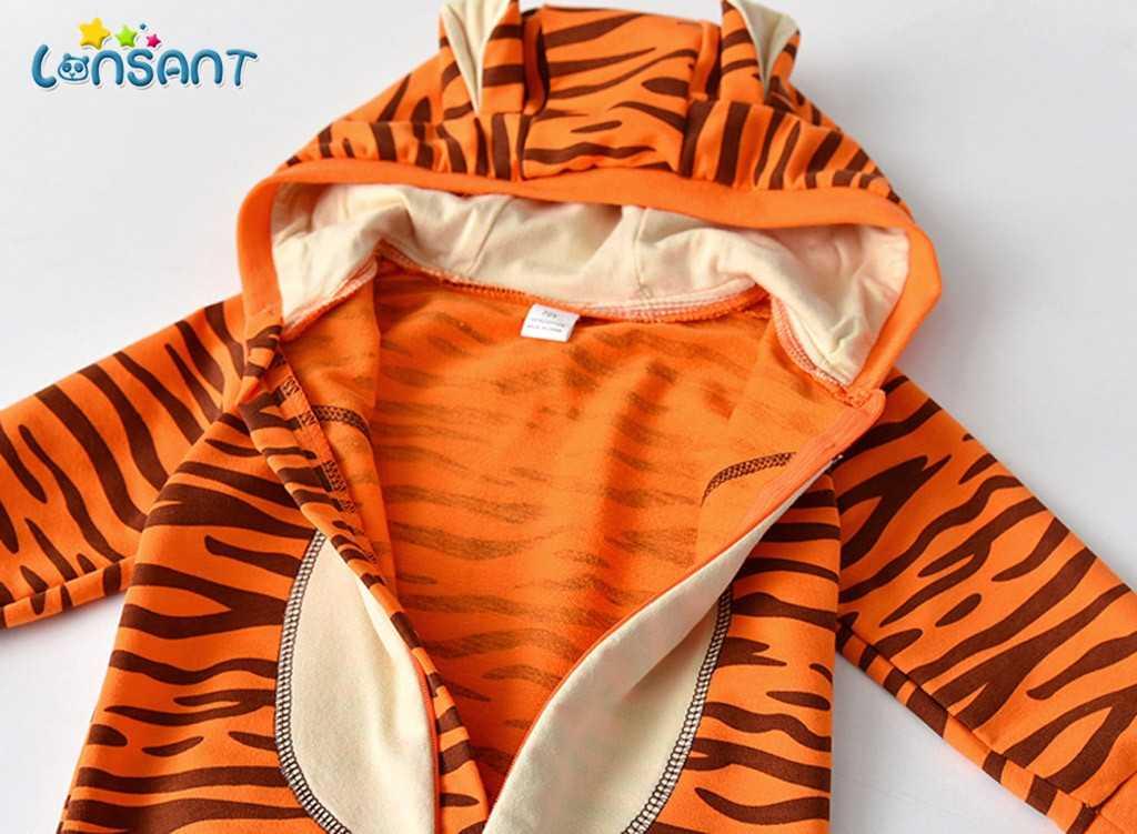 LONSANT tulum Bebek kapşonlu uzun kollu baskılı vücut Bebek çocuk kostüm çocuk kış tulum Bebek Giyim genel N30