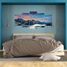 New Wall Stickers Home Decor Living Room The Italian National Park Dolomite Mountains 3d  Decal