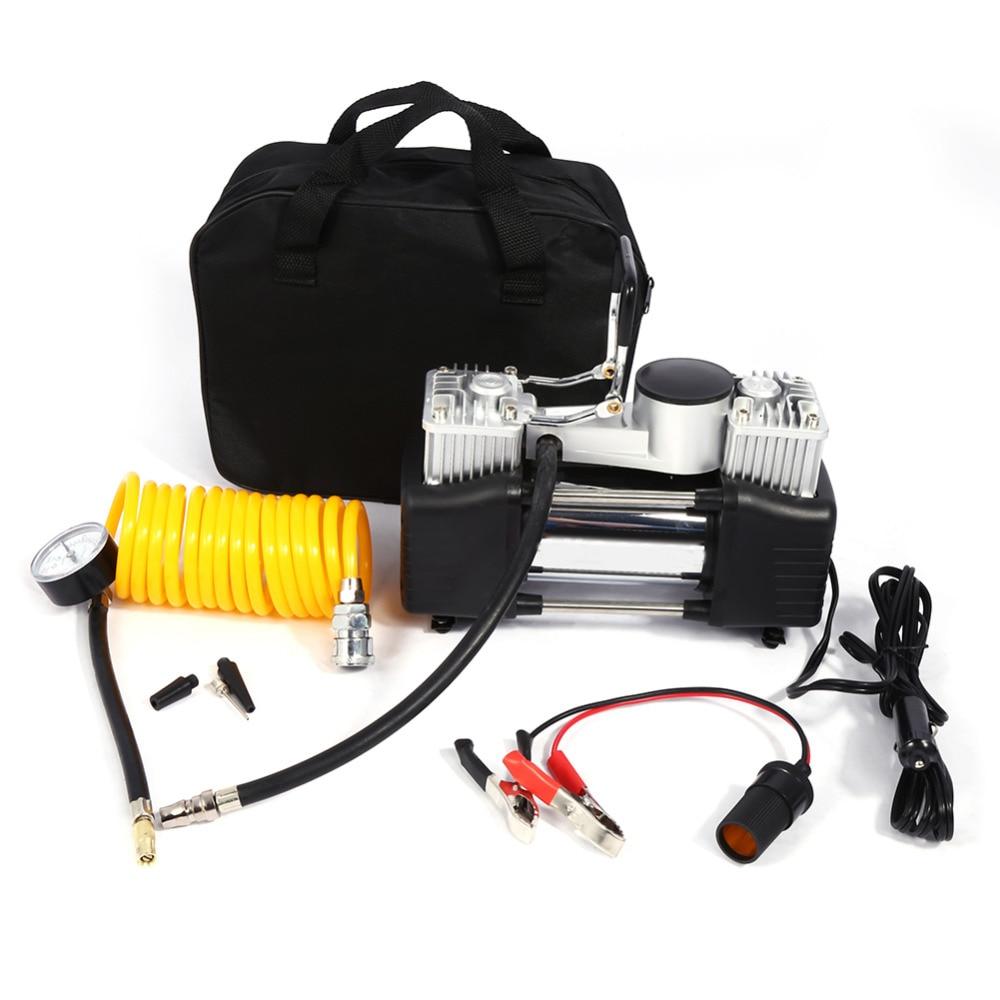 portable car tire inflatable pump mini cylinder car air. Black Bedroom Furniture Sets. Home Design Ideas
