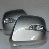 Światła LED Lusterko Wsteczne Z Pokrywą, Lampa LED Żółty Turn Signal Światła + Białe Stopy case dla Nissan NV200 2012 ~ ON