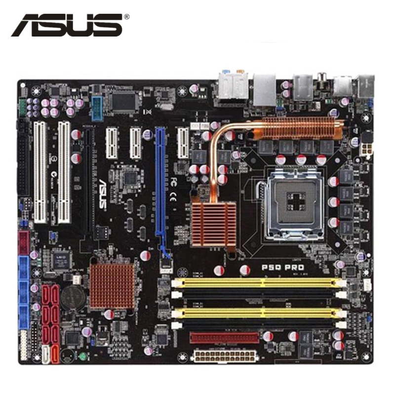 ASUS P5Q Pro Motherboard LGA 775 DDR2 16GB For Intel P45 P5Q Pro Desktop Mainboard Systemboard PCI-E X16 Used 8Mb AMI BIOS original teclast x3 pro x2 pro x16 power x16 pro active stylus