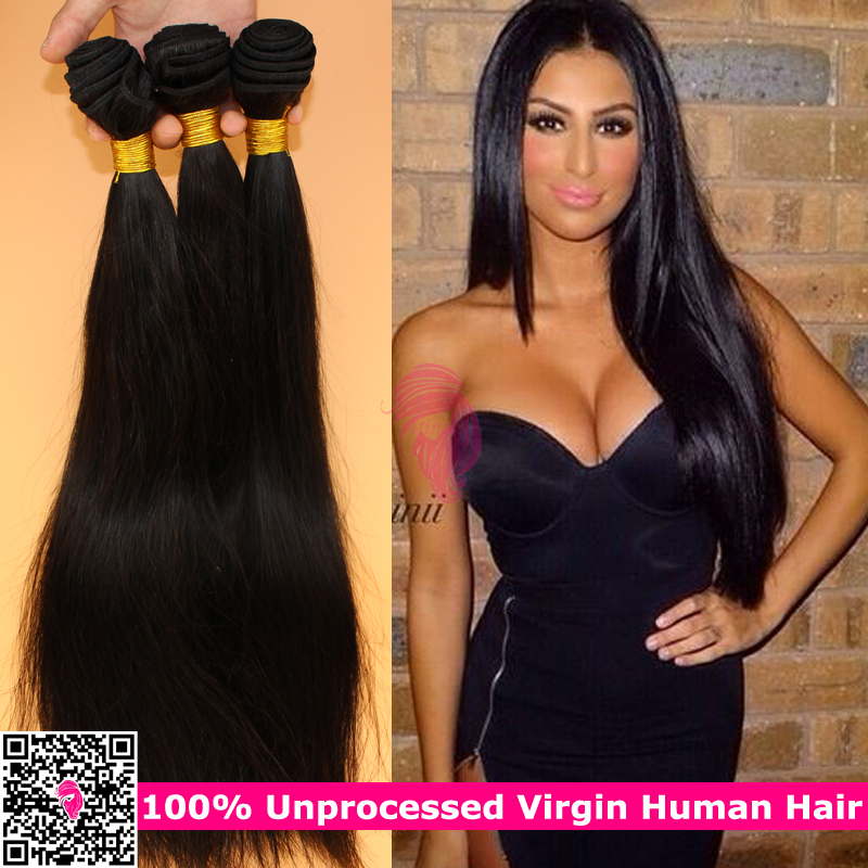 High Quality Filipino Virgin Hair Straight 3pcs Unprocessed Virgin