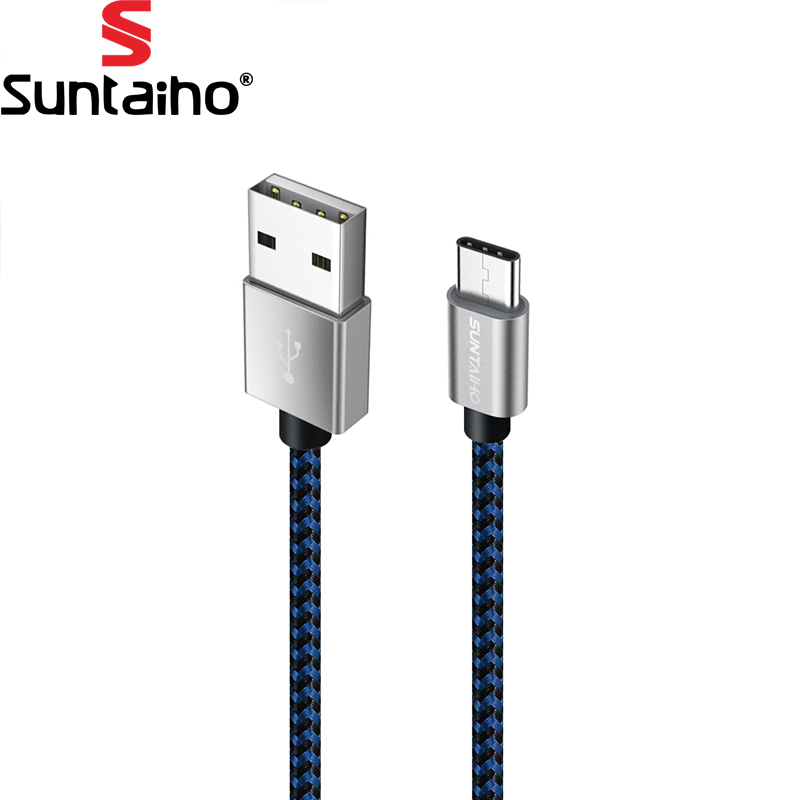 USB Type C 3.1 Cable,Suntaiho Nylon Braided USB Type-C Cable For Xiaomi Mi6 Mi5 redmi 4 Oneplus 5 3t Huawei M10 P10 Samsung S8