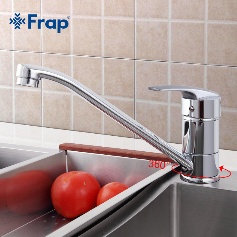Frap Classic Style Kitchen Faucet Solid Brass Single Handle Cold and Hot Water Tap 360 Degree Rotation F4906 frap new arrival double handle kitchen faucet goose nose tap antique brass hot and cold water mixer 360 degree rotating f4319 4