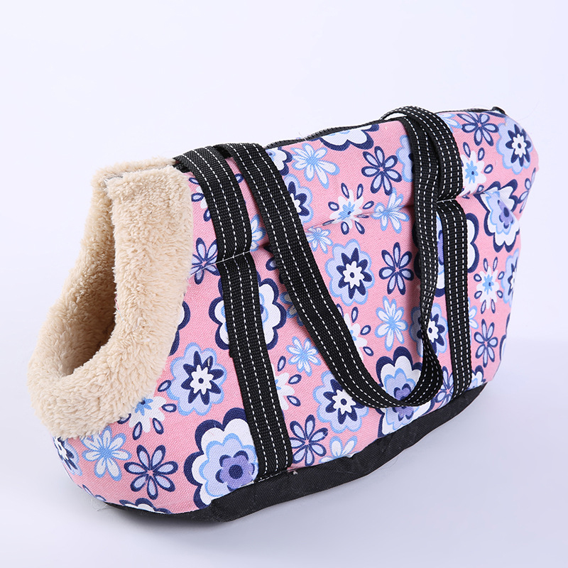 Cartoon Arctic Velvet Dog Bag Cozy & Soft Canvas Burr Pet Carrier Dog Handbag Outdoor Colorful Cat Bags Pet Products Chihuahua #3