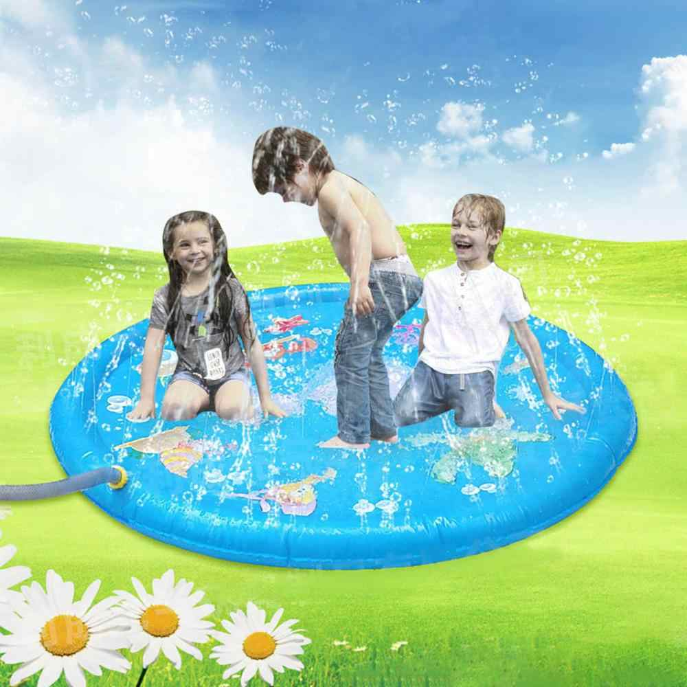 100CM Kids Boy Girl Summer Baby Play Water Mat Games Beach Pad Lawn Inflatable Spray Water Cushion Toys Outdoor Tub Swiming Pool