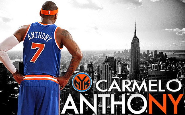 "03 Carmelo Anthony NYK All Stars NBA Basketball 38""x24"" Poster"