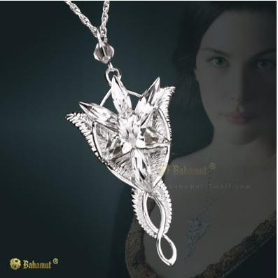 Bahamut 925 sterling silver the lotr silver arwen evenstar 7 bahamut 925 sterling silver the lotr silver arwen evenstar 7 crystals pendant womens necklace jewerly free wtih 600mm chain in pendant necklaces from aloadofball Image collections