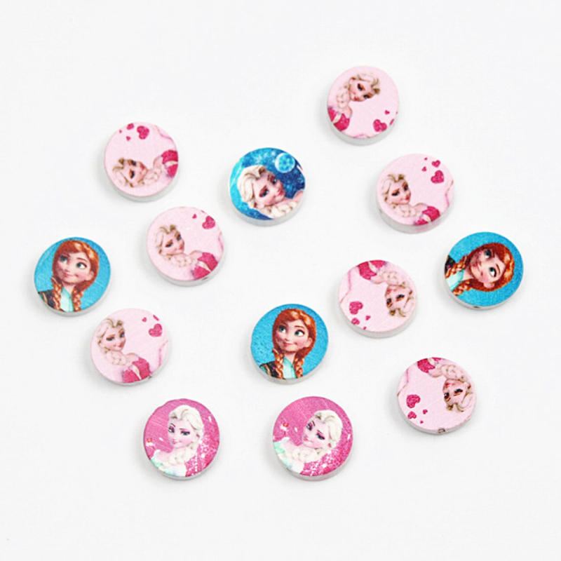Wooden Beads 20pcs 20mm Lovely Girl Spacer Beading Wood Beads For Jewelry Making Handmade DIY Crafts Kids Toys Pacifier Clip