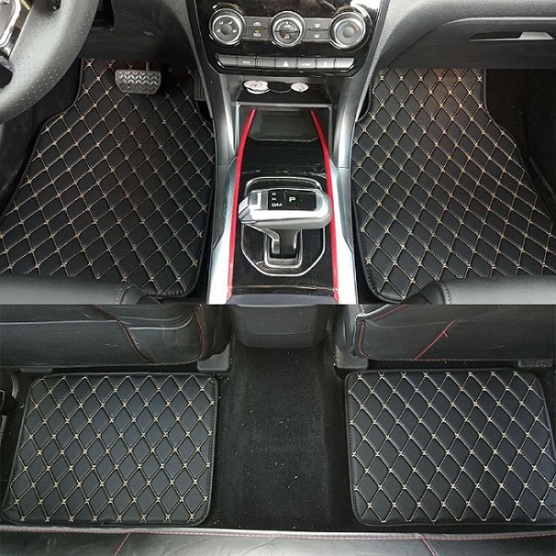 CARFUNNY Universal Car floor mats for RHD/LHD Citroen C2 C4L C5 Elysee C4 Aircross C-qurtre C4 car styling carpet floor mats(China)