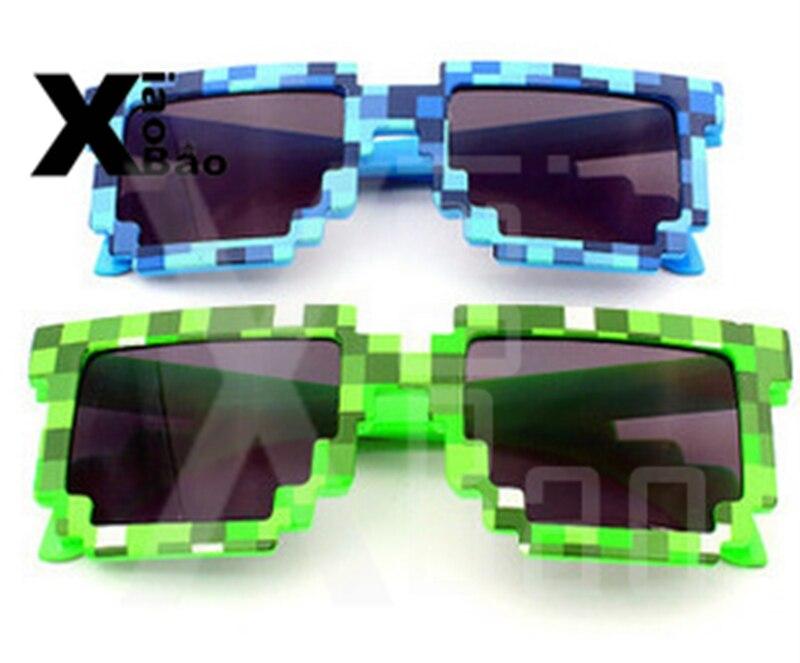 Ev ve Bahçe'ten Parti Armağanları'de Yeni piksel oyunu erkek kız çocuklar yaz oyuncak güneş gözlüğü zombi Mens Womens sıcak gözlük yeşil mavi parti malzemeleri çocuklar için doğum günü hediyesi'da  Grup 1