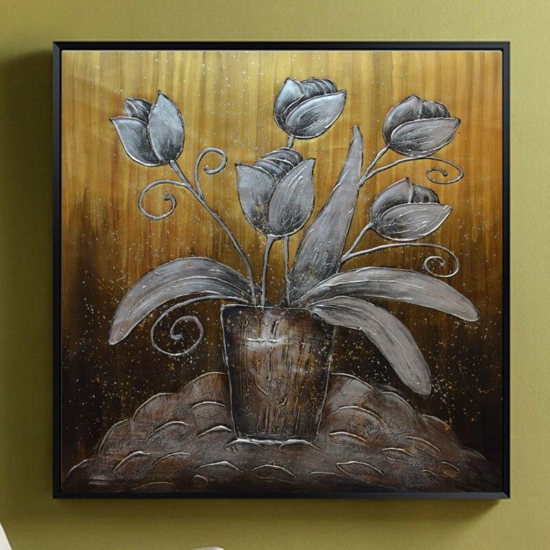 Современные художественные картины абстрактный цветок Экспрессия Виллем Haenraets масло на холсте Ручная роспись высокое качество настенные ф... - 6