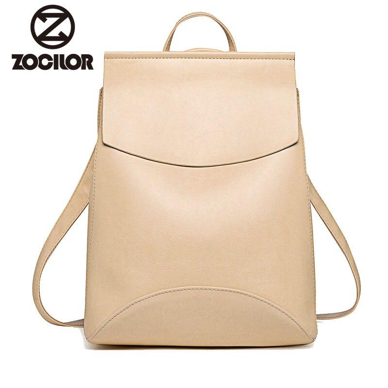 Nueva mochila de moda para mujeres jóvenes Vintage mochilas de cuero para niñas adolescentes nueva mochila escolar femenina mochila saco a dos