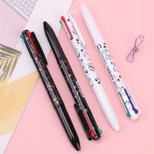 4 في 1 أربعة-اللون الصحافة الكرة اللون قلم السلس و لطيف قلم مدرسة مكتب لوازم الكتابة طالب