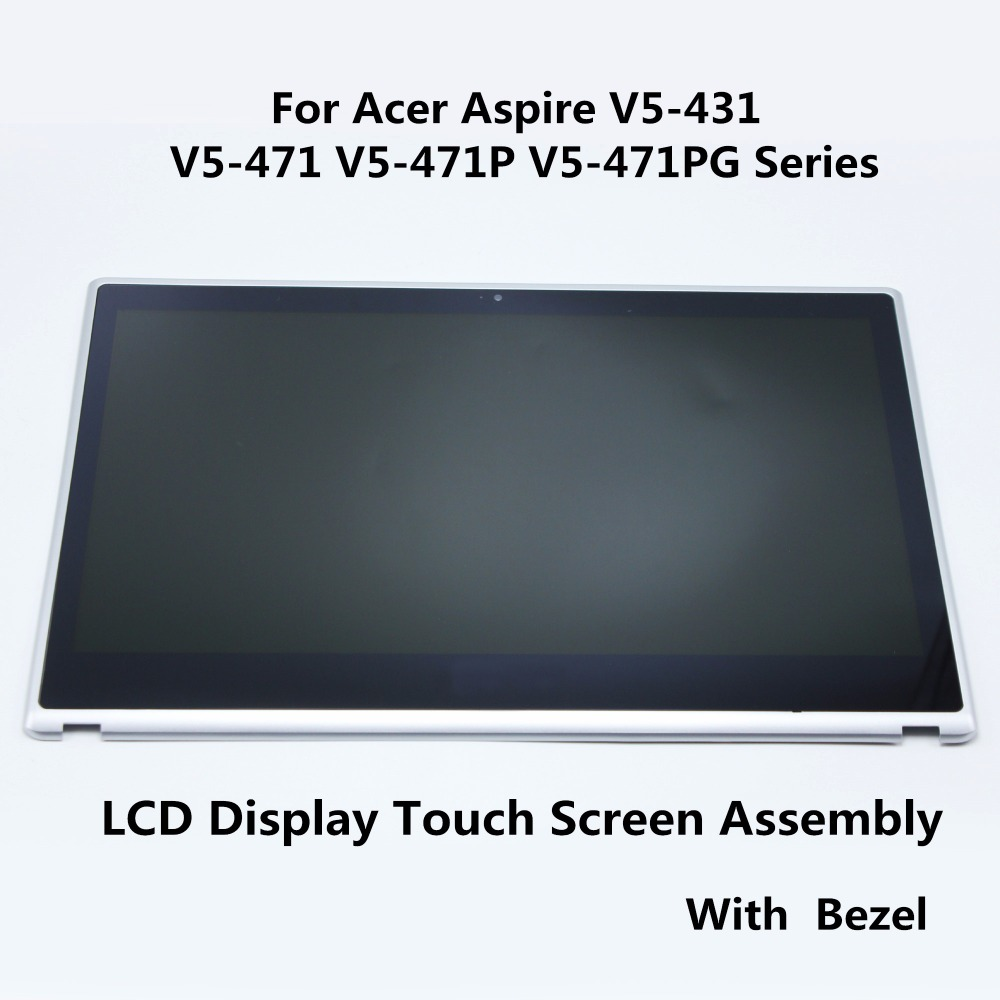 Laptop LCD Display Touch Screen Digitizer Assembly Panel+Bezel For Acer Aspire V5-431 V5-471 V5-471P V5-471PG Series B140XTN02.4 50g x 0 001g jewelry diamond scale portable electronic weighing balance digital gem carat scales counting high precision
