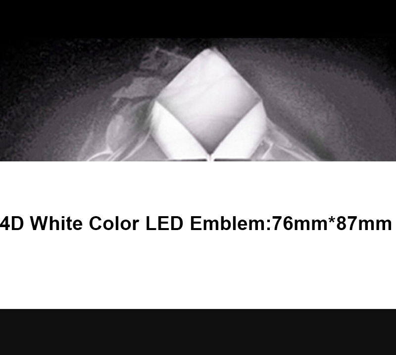 4D LED Car Tail Logo White Light for Mitsubishi Outland Lancer Auto Badge Light