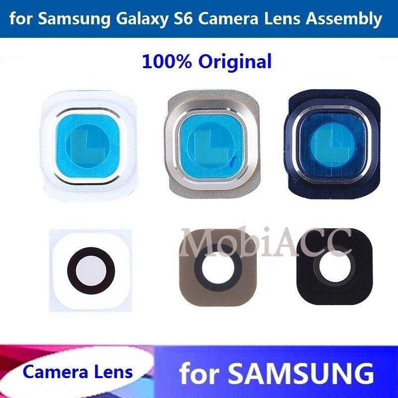 for Samsung Galaxy S6 Glass Camera Lens + Lens Cover 100%