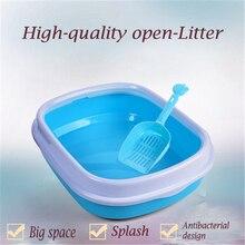 Cat Large Double Litter Box Bedpans Katzen Cofre Restroom Goods For Pets Toilet For Cats Dog Tray Cat Litter Wc Box Pet QQM2351