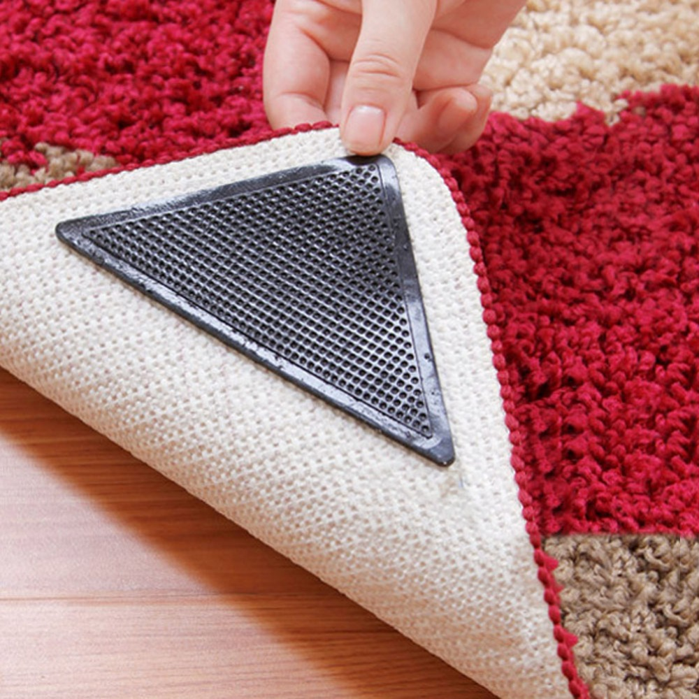 Hot 8 Pcs Set Slip Rug Grips Pu Mats Pad Reusable Washable