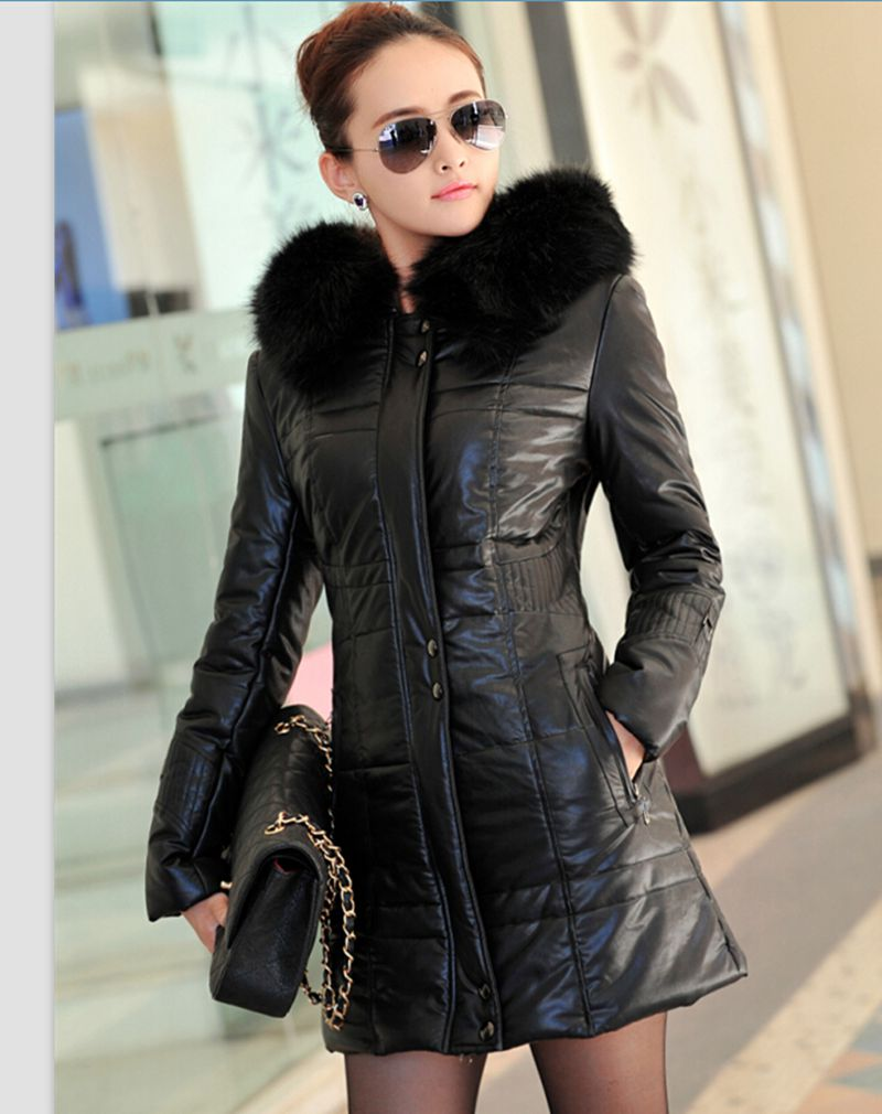 Women Leather Jacket 2017 New Fashion Winter Coat Women