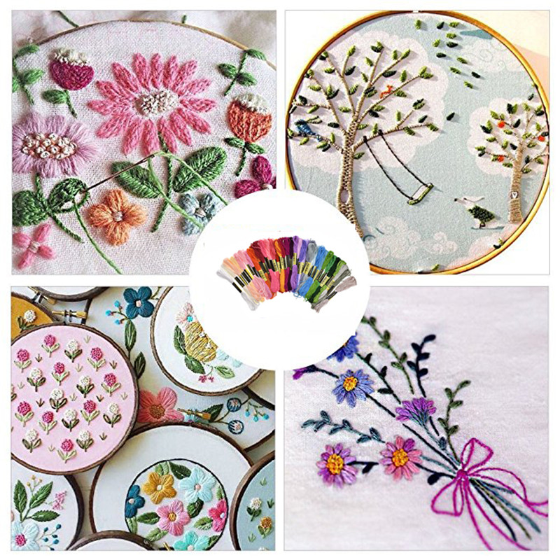 Looen Magic Embroidery Pen Punch Needle Set With 100pcs Threads Embroidery Patterns Punch Needle Kit Craft Tool for DIY Sewing (10)