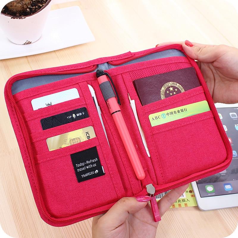 Travel Passport Card Holder