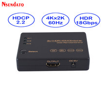 3 Di 1 4 K HDR HDMI Splitter HDCP 2.2 3X1 HDMI Switch 4 K 60Hz HDMI Splitter Hub Box 3 Port HDMI Switcher 4 K untuk PS4 TV Box(China)