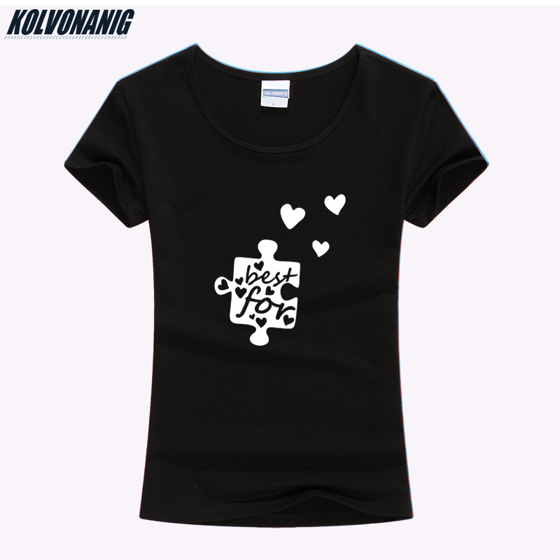 2019 Summer Clothes Streetwear Style Female T Shirt Best For Love Print T Shirt Women Cotton Short Sleeve Girl Slim Kawaii Tees in T Shirts from Women 39 s Clothing
