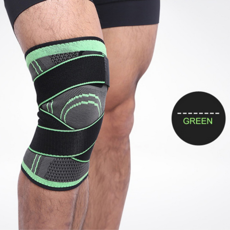 Leg Knee Protector 3d Pressurized Fitness Running Cycling Bandage Pad Elastic Nylon Sports Compression Cap