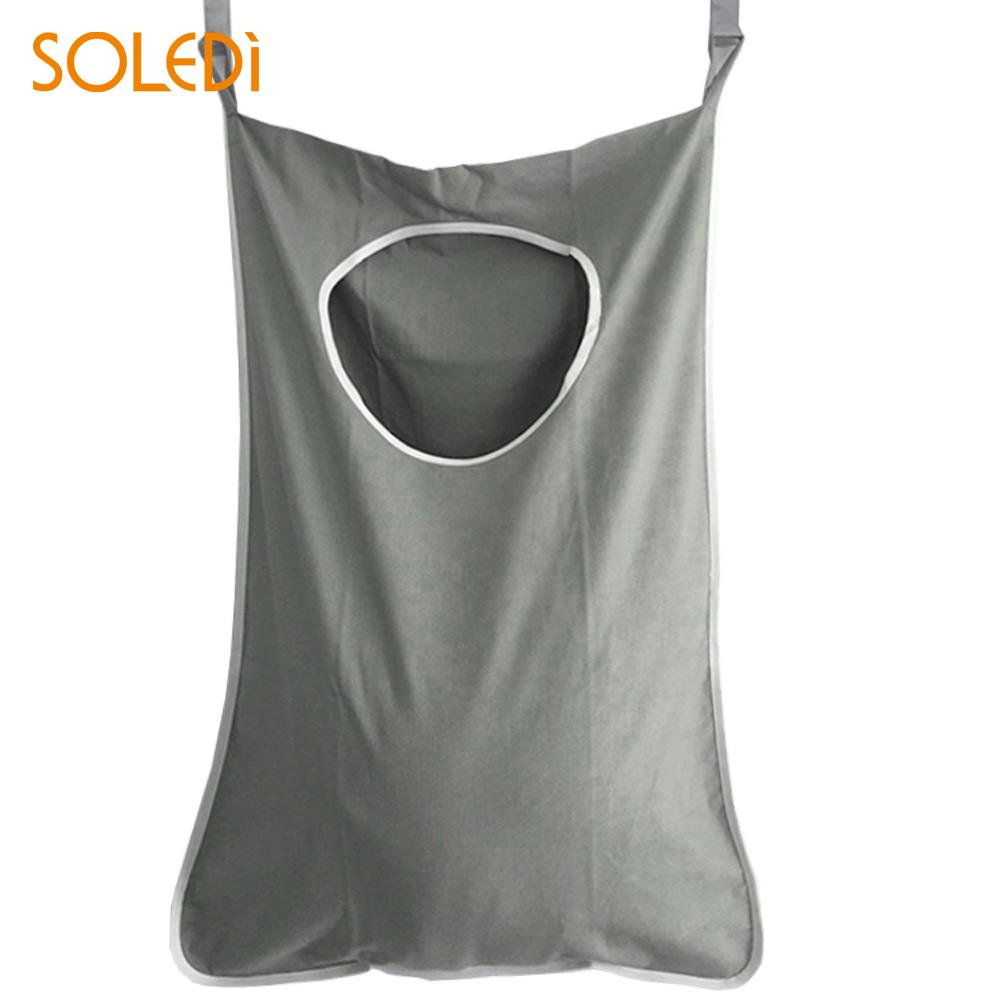 Hanging Laundry Hamper with Hook Clothes Organizer Portable Dirty Clothes Storage Oxford Over The Door Durable