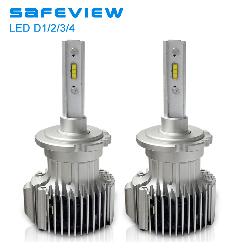 цены Safeview Car d2s d2r auto led headlight Bulbs 12V 72W D1S D3S D4S 6000K White Lighting H7 H4 H8 H9 H11 Assembly auto front lamp
