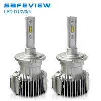 Safeview Car d2s d2r auto led headlight Bulbs 12V 72W D1S D3S D4S 6000K White Lighting H7 H4 H8 H9 H11 Assembly auto front lamp