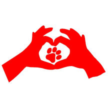 Love Paw Print Cat Dog Car Window Sticker Heart Cute Funny Vinyl Decal Christmas Warm Family Father Mother Child Hand Footprints(China)