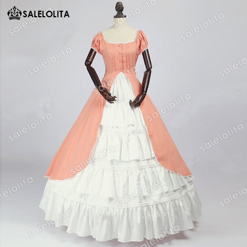 Hot Sale Renaissance Colonial Bridesmaid Period Dress Fairytale Ball Gown Renaissance Southern Belle Dress Theater Clothing gown