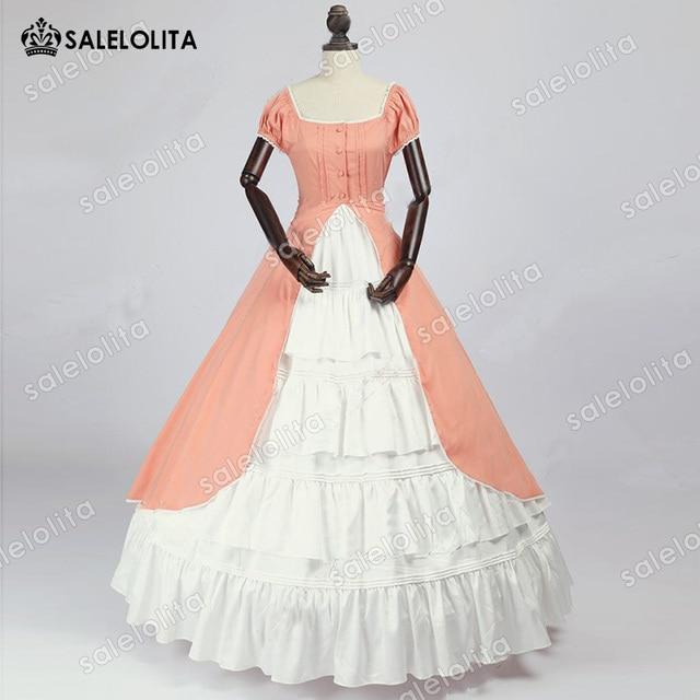 Hot Sale Renaissance Colonial Bridesmaid Period Dress Fairytale Ball ...