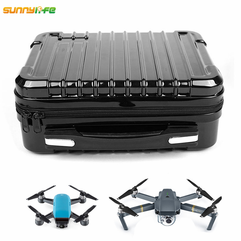 Sunylife DJI Spark DJI Mavic Pro Platinum Alpine White ABS Hardshell Box Portable Storage Bag with EPP Inner for Control Battery